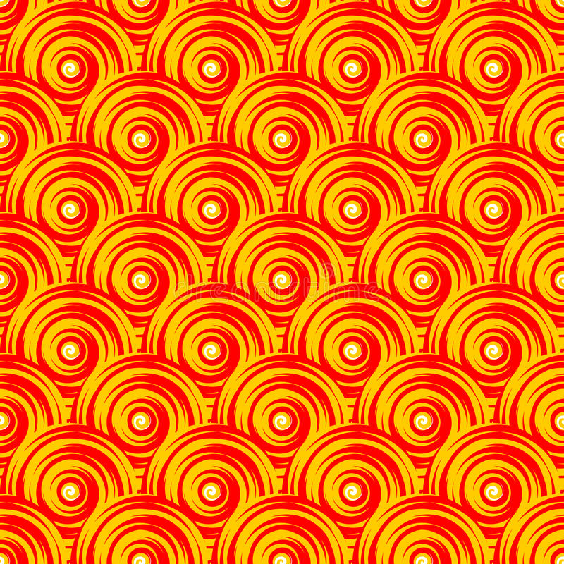 Design seamless colorful swirl pattern. Bright geo. Metric oval diagonal background. Vector art royalty free illustration