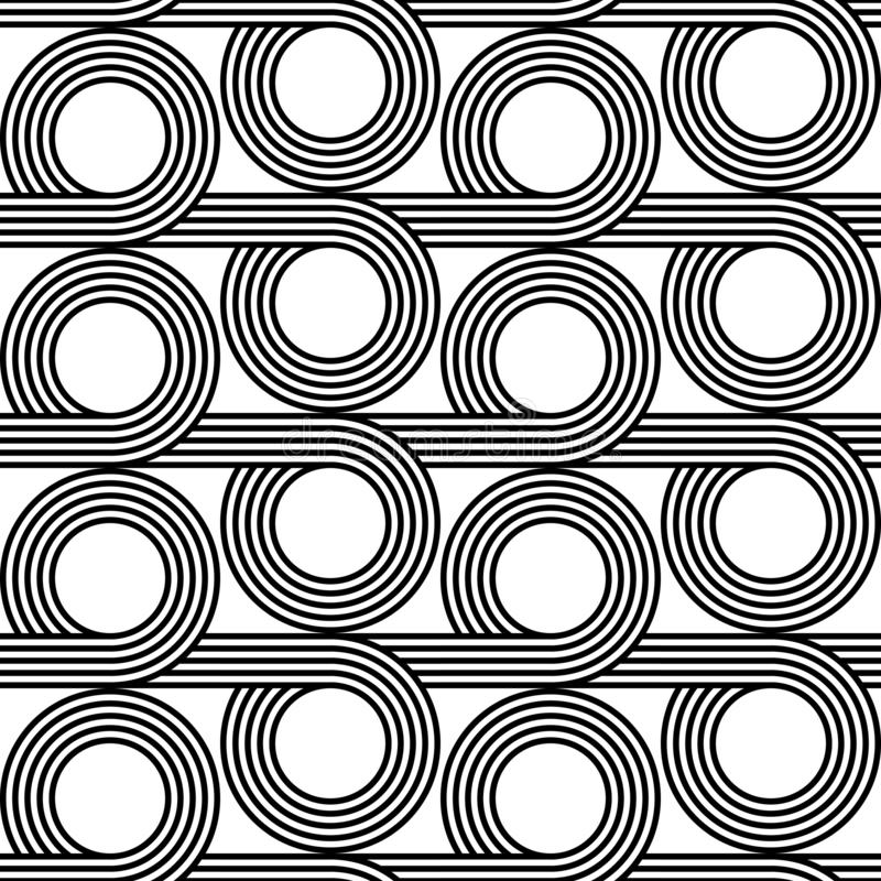 Design seamless geometric pattern. Abstract monochrome circle background. Vector art royalty free illustration