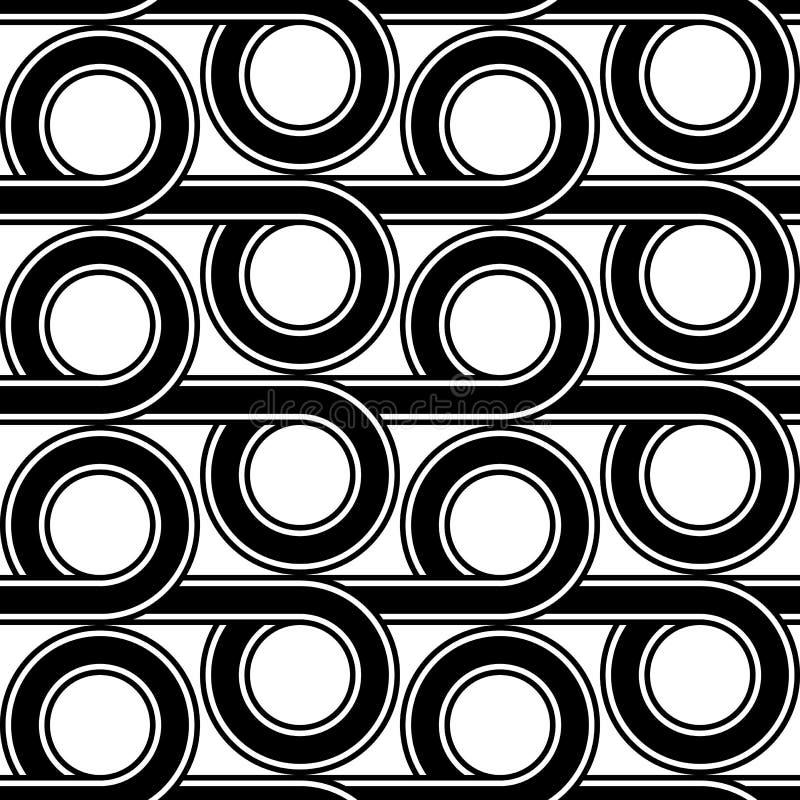 Design seamless geometric pattern. Abstract monochrome circle background. Vector art stock illustration