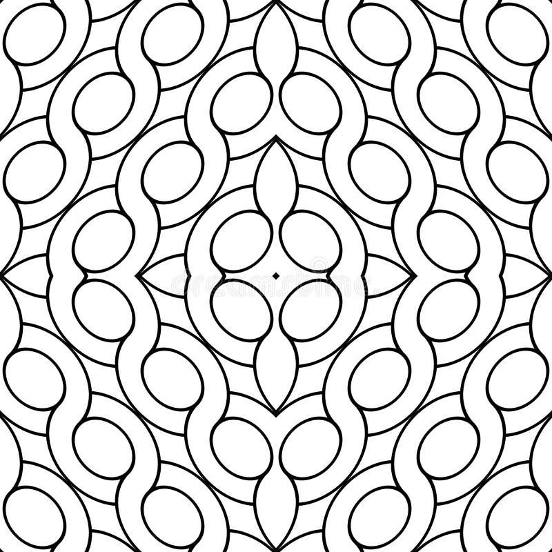 Design seamless geometric pattern. Abstract monochrome ellipse background. Vector art royalty free illustration