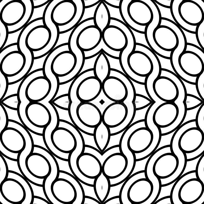 Design seamless geometric pattern. Abstract monochrome ellipse background. Vector art vector illustration