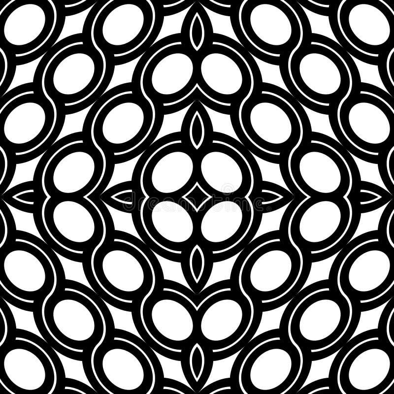 Design seamless geometric pattern. Abstract monochrome ellipse background. Vector art stock illustration