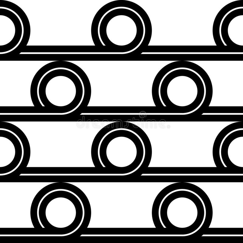 Design seamless geometric pattern. Abstract monochrome circle background. Vector art vector illustration