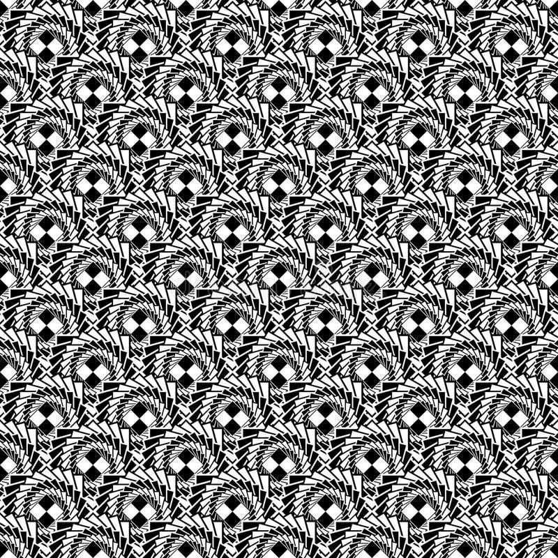 Free Design Seamless Monochrome Abstract Spiral Diagonal Pattern Royalty Free Stock Images - 35968869