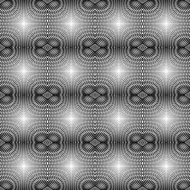 Design seamless monochrome horizontal lines patter stock illustration