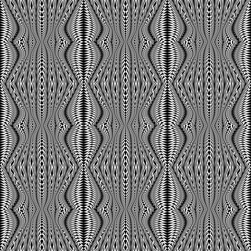 Design seamless monochrome stripy pattern vector illustration