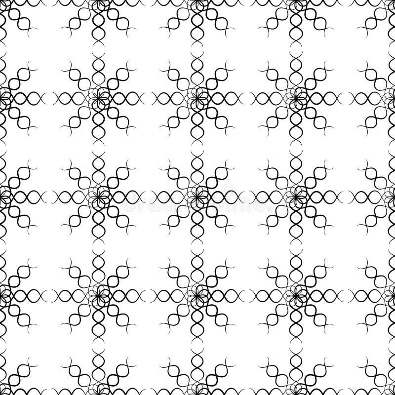 Design seamless monochrome twirl pattern. stock illustration
