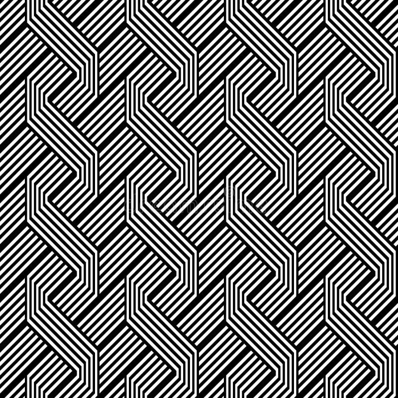 Design seamless monochrome zigzag pattern stock illustration