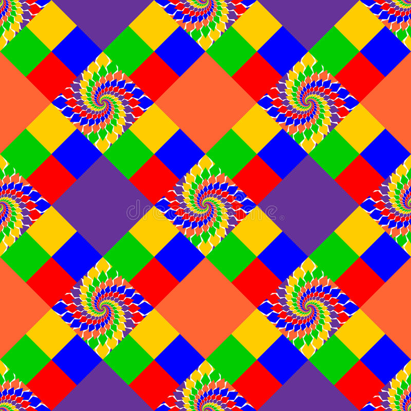 Design seamless multicolor abstract pattern stock illustration