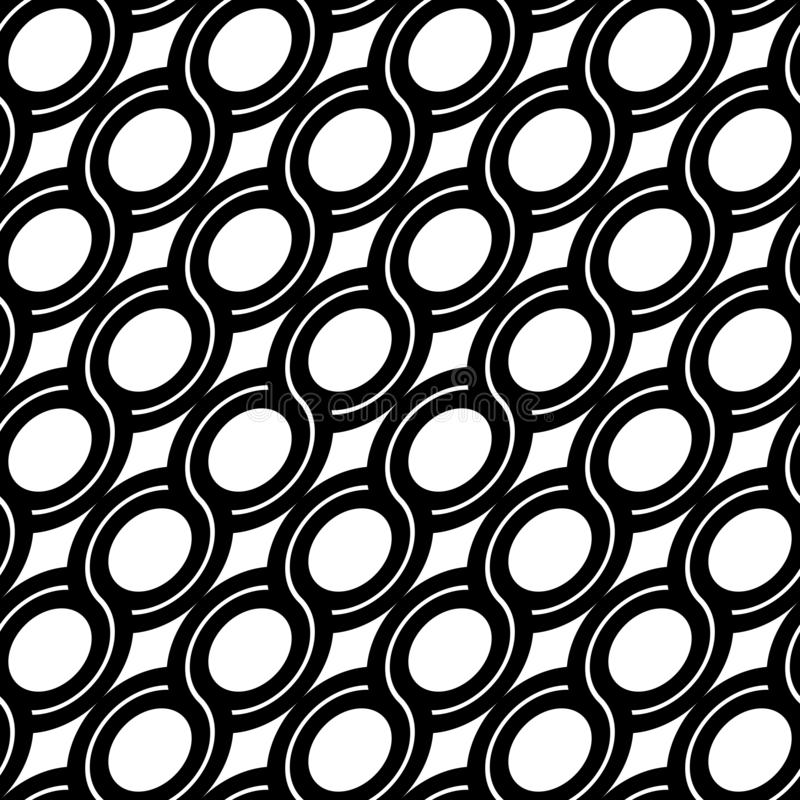 Design seamless spiral twisted pattern. Abstract monochrome ellipse background. Vector art vector illustration