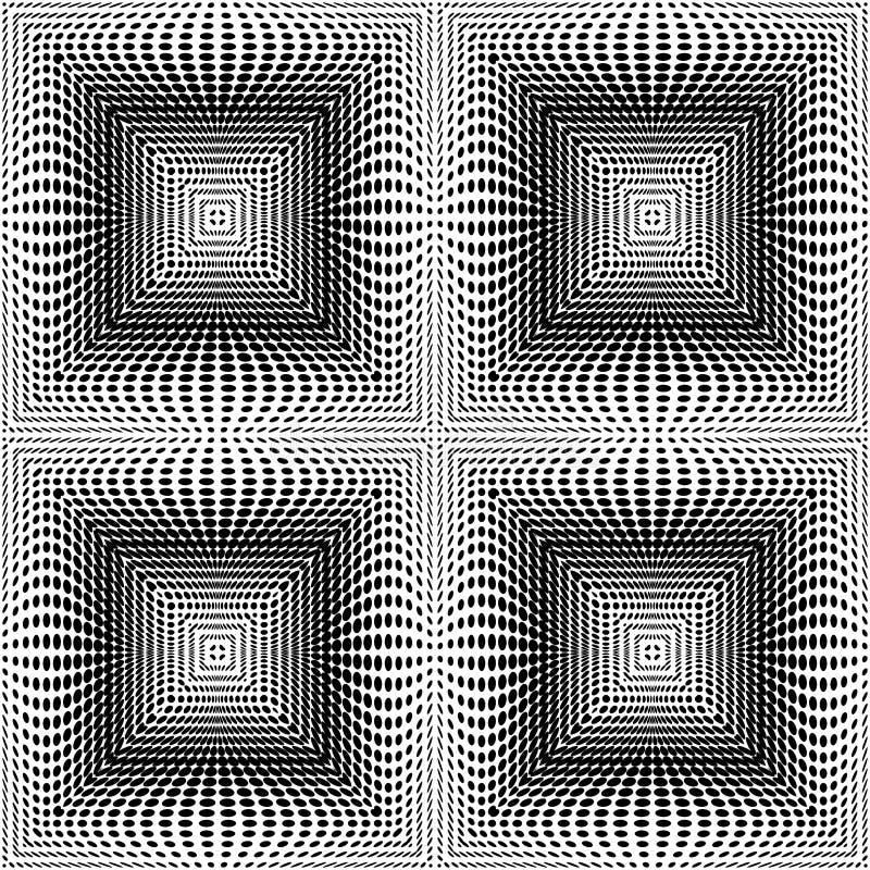 Design seamless square dots background stock illustration