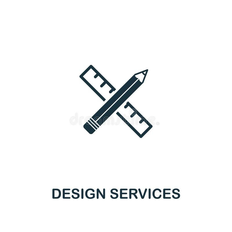 Design Services icon. Premium style design from design ui and ux icon collection. Pixel perfect Design Services icon for web, apps royalty free illustration