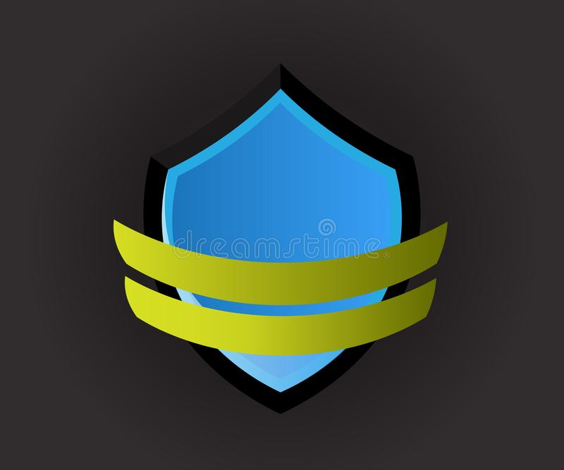 Vector logo shield icon vector illustration