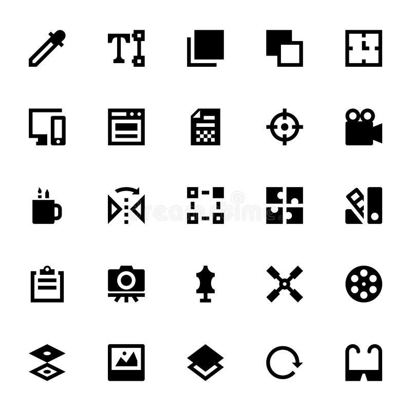 Design som skrivar ut och modellerar 8 vektor illustrationer