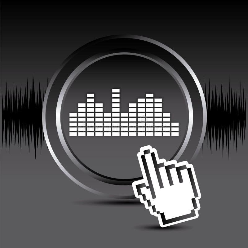 Design sonoro ilustração royalty free