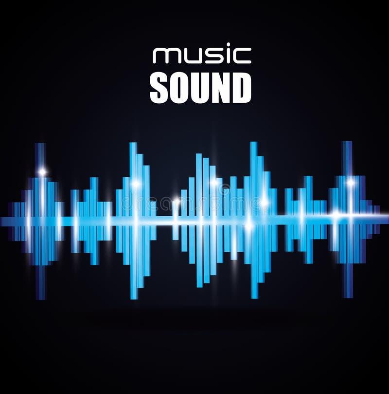 Design sonoro da música ilustração do vetor