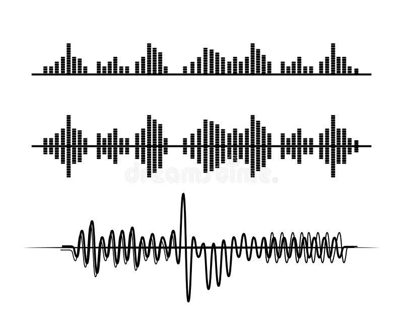 Design sonoro da música ilustração stock