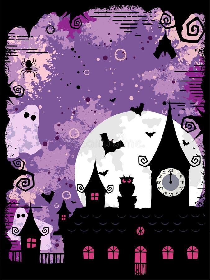 design spöklika halloween royaltyfri illustrationer