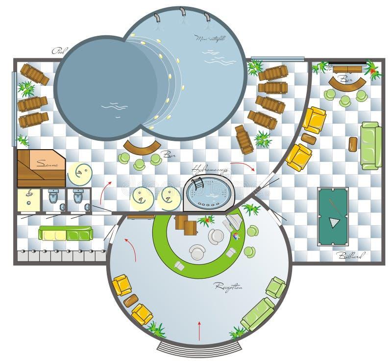 Design of the SPA salon vector illustration