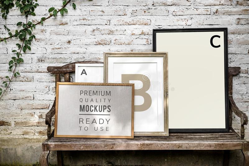 Design space photo with frame royalty free stock images
