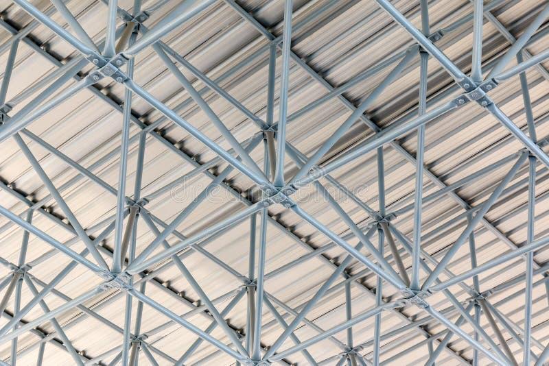 Design of steel roof. Background stock photos