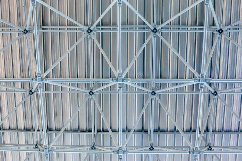 Design of steel roof. Background stock image
