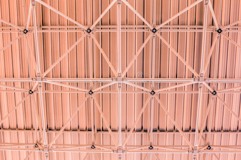 Design of steel roof. Background stock images