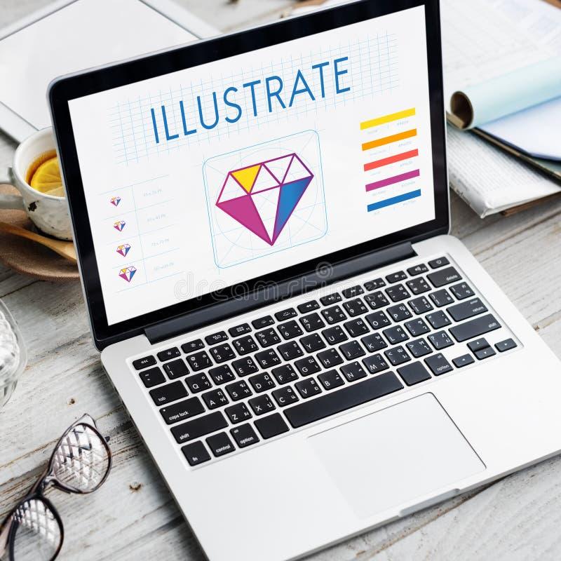 Design Style Graphic Creativity Ideas Illustration Concept stock photography