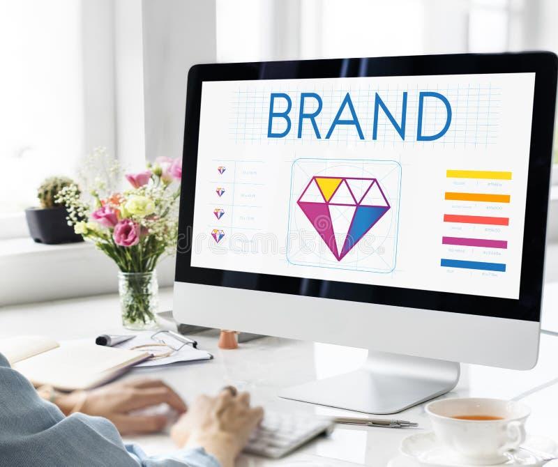Design Style Graphic Creativity Ideas Illustration Concept. Brand Design Graphic Creativity Ideas Concept stock photography