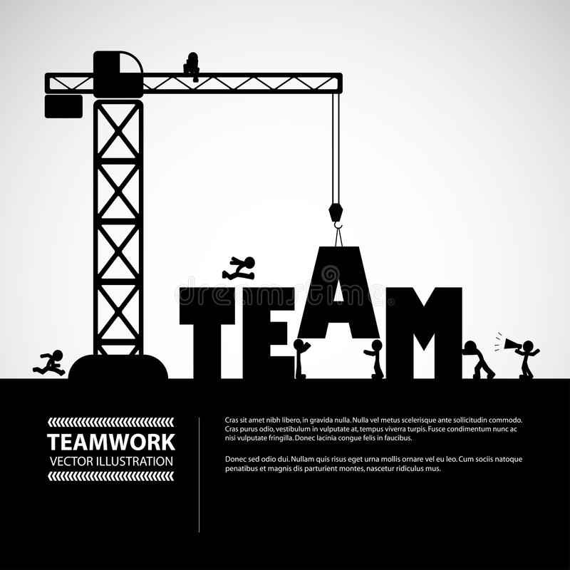 Motivational Quotes For Sports Teams: Design Team Building Concept, Vector Illustration. Stock