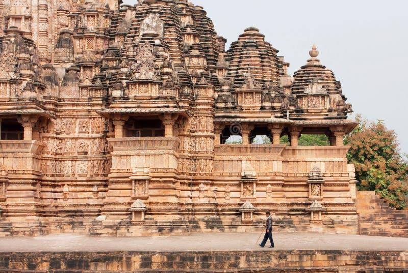 Design Tempels des des 10. Jahrhunderts in der alten indischen Stadt Khajuraho Der meiste populäre Platz in Vietnam lizenzfreie stockbilder