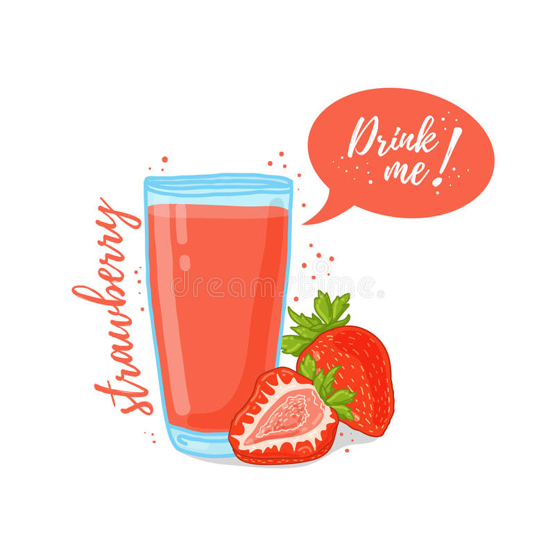 Design Template Banner, Poster, Icons Strawberry Smoothies ...
