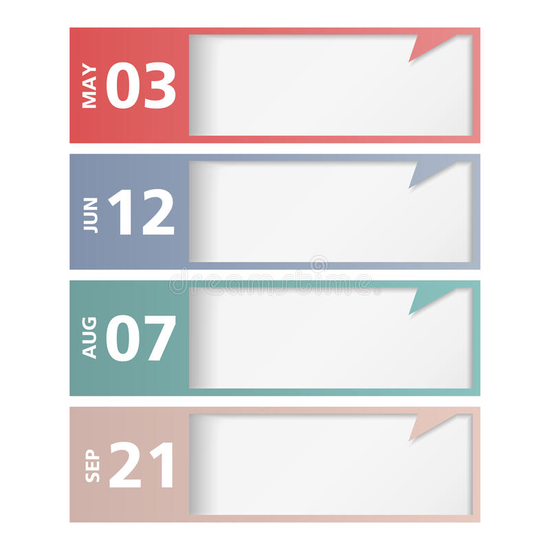 Download Design template with dates stock vector. Image of scheduler - 32499971