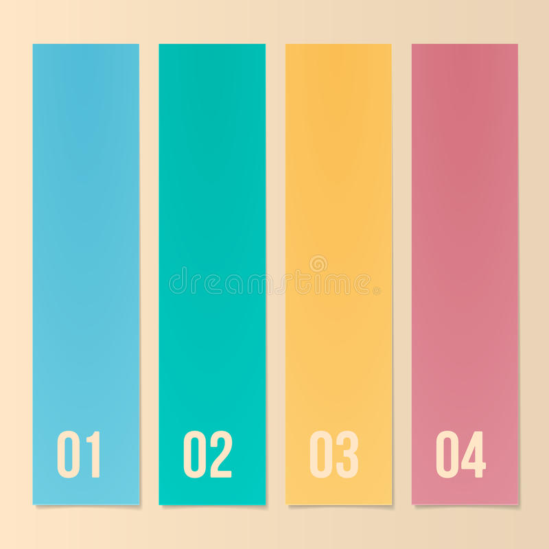 Download Design Template For Infographics, Numbered Banners, Web Layout. Stock Vector - Image: 31763272