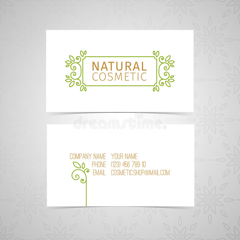 Design Template For Organic Natural Cosmetics Business Card With ...