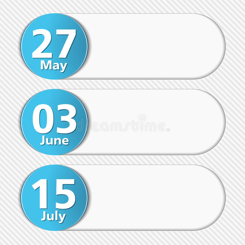 Design Template with Dates stock illustration