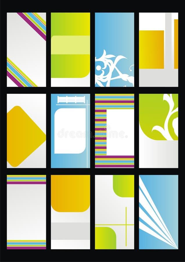 Design template, set business cards royalty free illustration