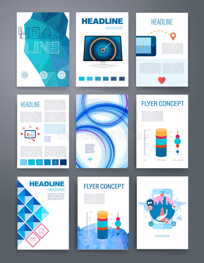 download design template set for web mail brochures stock vector illustration of corporate
