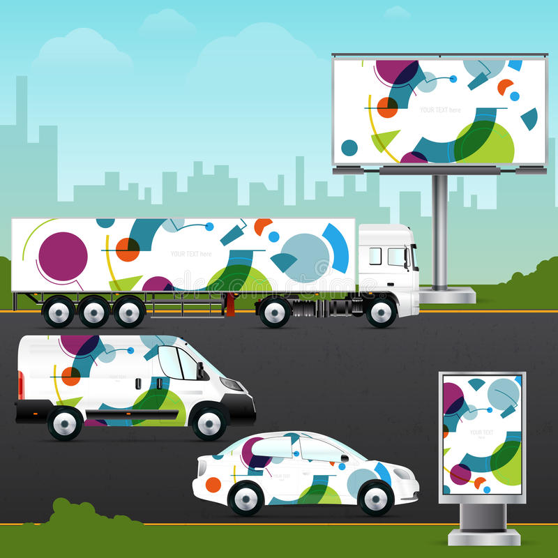 Free Design Template Vehicle, Outdoor Advertising Or Corporate Identity. Royalty Free Stock Image - 68860166