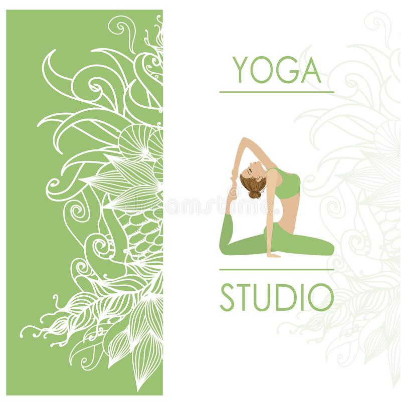 Design Template For Yoga Studio Business Card Stock Vector ...