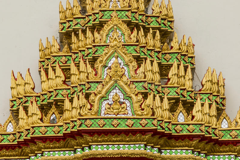 Design Of Thai Temple Wall Art Stock Photo - Image of cultures, gold ...