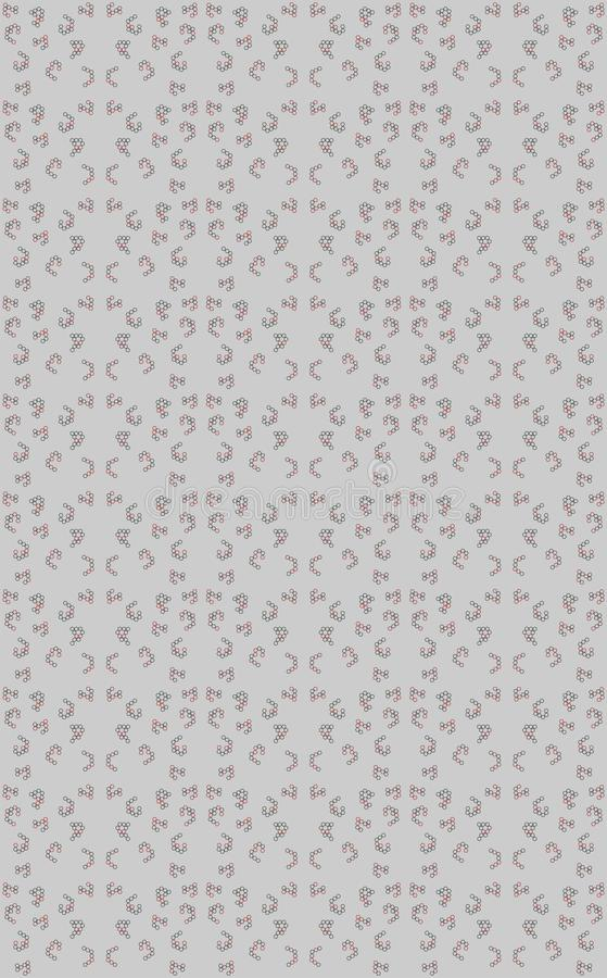 Hexagons are scattered in two colours to design a different texture on grey background. In this design 2 tones of hexagons are textured on grey background.This vector illustration
