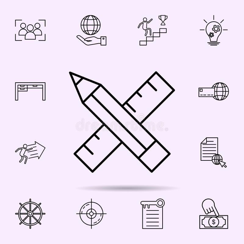design tools icon. Universal set of web mix for website design and development, app development vector illustration