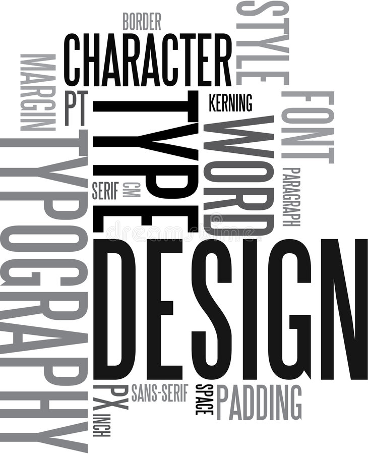 Design and typography back royalty free illustration