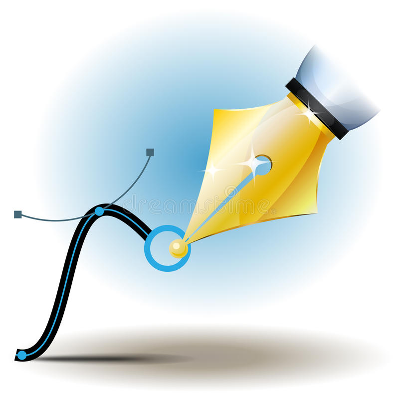 Design Vector Pen Tool stock illustration
