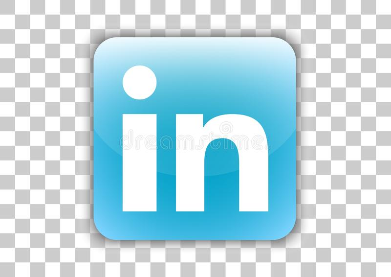 Linkedin Social Media Icon Button With Symbol Inside Editorial Stock Photo - Illustration of ...