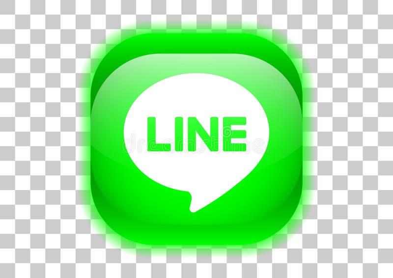 line messenger button vector illustration
