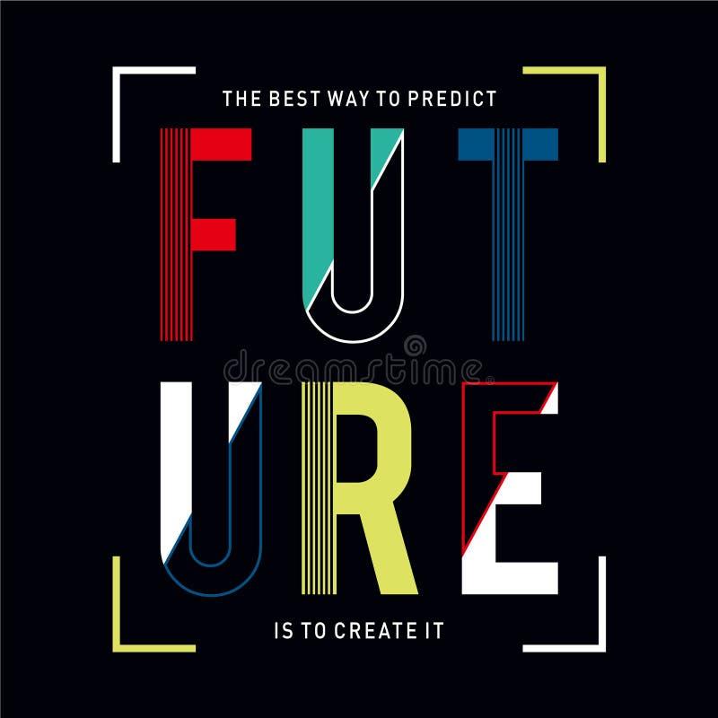 Design vetorial de tipografia varidade futuro para a coleção t shirt print men ilustração stock