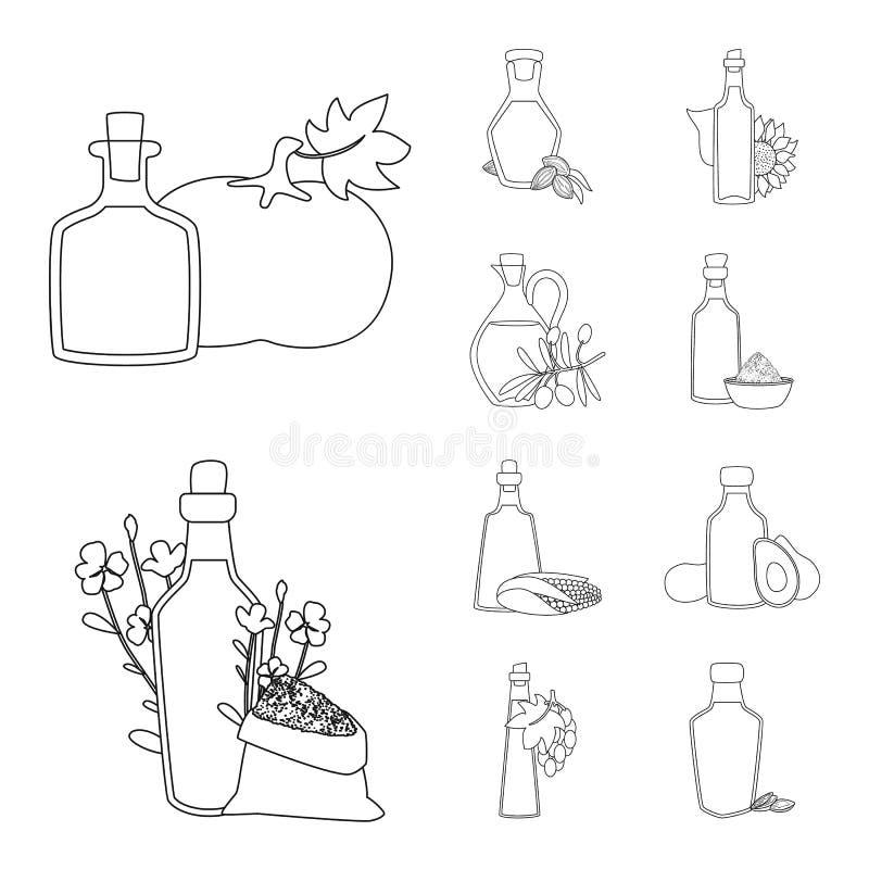 Design vetorial do logótipo saudável e vegetal Coleção de ícone de vetor saudável e orgânico para estoque ilustração stock