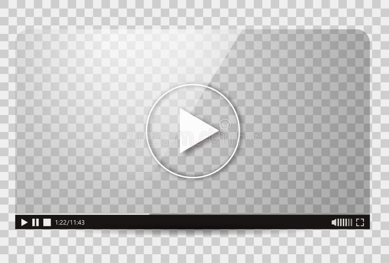 Design of the video player. Interface movie media play bar. Vector flat illustration vector illustration